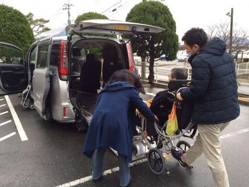 同行してくださいました、ケアマネさんと山川さん