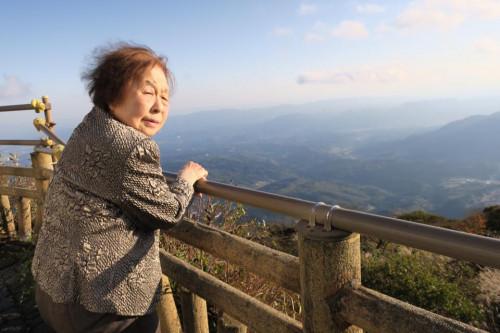 鶴見岳の山頂より