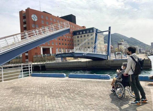 門司港レトロの跳ね橋